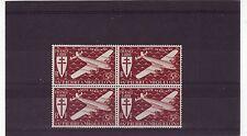 ST PIERRE et MIQUELON-sg338 neuf sans charnière 1942 Air 5fr violet-Bloc de 4