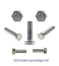 10 Stk. Sechskantschrauben DIN 933 M10 x 30 Edelstahl V2A