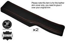 Orange stitch 2x rebord de porte accoudoir peau de cuir couvre fits CORVETTE C4 84-87