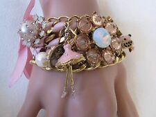 BETSEY JOHNSON SCHOOL OF DANCE MULTI CHAIN BALLERINA STATEMENT BRACELET~RARE