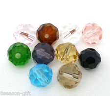 50 Mixed Crystal Quartz Faceted Round Beads 5000 8mm