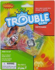 Pop-O-Matic TROUBLE Miniature Game KEYCHAIN Keyring Basic Fun Hasbro Doll NEW