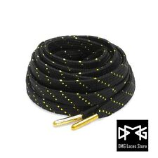 Gold Thread shoe laces with metal tips for Jordan KD LBJ Asics Kyrie kobe Curry