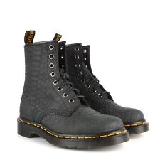 DOC DR. MARTENS  BLACK EMBOSSED PYTHON SNAKE BOOT NEW IN BOX UNISEX UK6 US W8 M7