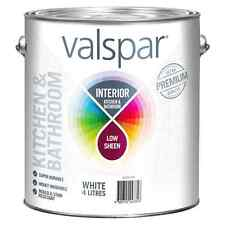 Valspar Interior Kitchen & Bathroom LOW SHEEN WHITE 4L