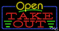 """NEW """"OPEN TAKE OUT"""" 32x17 SOLID/ANIMATED LED SIGN W/CUSTOM OPTIONS 25439"""
