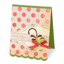 Sizzix Bigz XL Scallop Card #4 die #657372 Retail $39.99 Retired, Beautiful!!