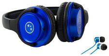 Able Planet Musicians' Choice Headphones + Bonus Sound Isolation Earbuds (BLUE)