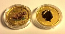 1/10 Oz gold ox 2009 Australian colorized lunar ounce