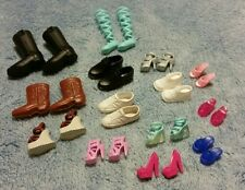 Lot of 14 pairs Barbie Doll Ken Kelly Shoes Heels Sandals Boots Slippers D