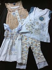 Girl 9 Naartjie Butterfly Oasis Tops & Legging Lot Braided Aztec 4 Pieces