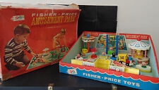 Vintage Fisher Price Little People Play Family Amusement Park #932 BOX BoatsCars