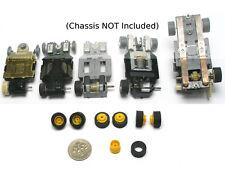 12 pc Rear WHEEL & TIRE TUNE UP TYCO PRO HP2 HP7 US1 TCR + Slot Car PARTS Yellow