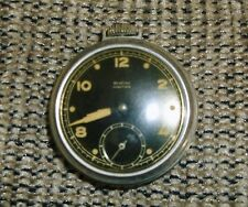 VINTAGE WESTCLOX MEN'S POCKETWATCH BLACK FACE 1950'S POCKET BEN HANDWIND