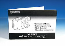 Yashica Microtec Zoom 70 Bedienungsanleitung Instruction  E/G/F/S - (101467)