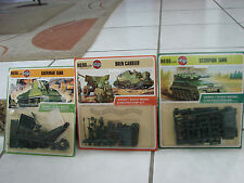 Airfix Ho/oo scale  3 Model Kits Scarpion Tank, Bren Carrier,Sherman Tank