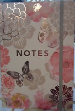 'Lovely Garden' Bound Journal - Elastic Loop Closure & Rose Gold Gilded Pages