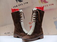 True Vintage Damen Winter Stiefel Wildleder 38 Braun Boots uk5,5 Schneestiefel