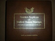 Golden Replicas of United States Stamps 22KT Gold  within an official FDC