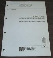 Werkstatthandbuch Peugeot 806 Schutzeinrichtungen Sicherheitseinrichtungen 1997!