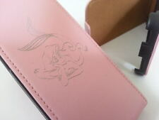 Iphone 5 LITTLE MERMAID GENUINE LEATHER pink flip phone case cover five Apple