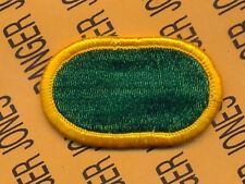 US Special Operations Det SHAPE Europe Airborne para oval patch m/e #3 Gold