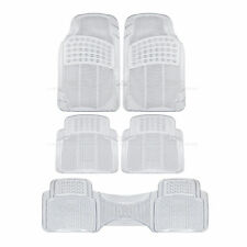 Clear Rubber Car Floor Mat 5 Piece All Weather Protection Auto Flooring