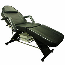 Salon SPA Black Reiki Massage Bed Tattoo Chair Facial Adjustable Table Beauty