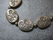 13pcs Oval Flower Silver Plated Spacer