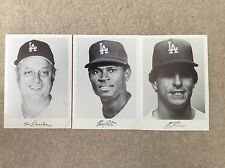 Los Angeles Dodgers Player Pictures 1980's Set of 3 Lasorda Mota