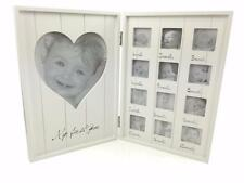 Beautiful Wooden Double Baby My First Year 12 Month Frame FUZ103-HS