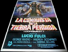 1983 Conquest ORIGINAL SPAIN POSTER Lucio Fulci Sword & Sorcery SCIOTTI Artwork