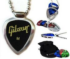 Guitar Player GiftSet PICKBAY Guitar pick holder Pendant NECKLACE & Gibson Picks