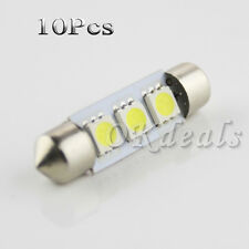 10X 12V 38mm 3-SMD 239 272 C5w Canbus No Error Warm White Interior Light IDXX