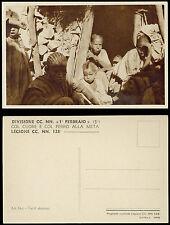 cartolina militare ADI ABO' tucul abissino CC.NN. 1°FEBBRAIO 5° LEGIONE 128