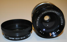 Mosler Photoguard 35mm F2.8 Lens with a Tiffen 49mm ND 0.6 Filter