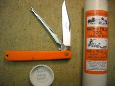 Great Eastern Cutlery # 65 Farm & Field Tool Fish Knife  perfect Orange Delrin