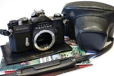 Asahi Pentax Spotmatic SP Rare Black paint 35mm SLR camera body, working shutter