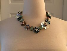 J.CREW SEQUIN AND CRYSTAL ROSE NECKLACE F0847