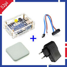 Banana Pi M1 Board + BPI Acrylic Case + SATA Cable +Ceramic Heat Sink + EU Plug