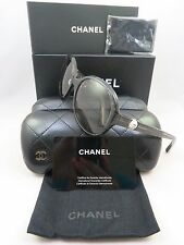 Chanel 5211-H c.1263/41 Clear Glitter Pearl New Authentic Sunglasses 57mm w/Box