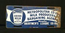 Antique Vintage  Dairymen's League Member Sign License Plate Dairy Farm