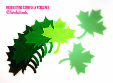 NEW Felt Die Cuts 10 Large Accucut Maple Leaf Mixed Colours Applique (C)