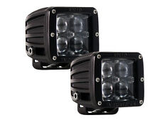 RIGID INDUSTRIES BLACK DUALLY D2 HYPERSPOT (50471) White LED Spot Lights (PAIR)