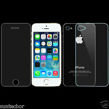 Front And Back Thin Film Tempered Glass Screen Protector For Apple iPhone 4 4S