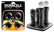 PS3 Move & Navigation Controller Quad Charger by Duracell FREE SHIPPING-NEW