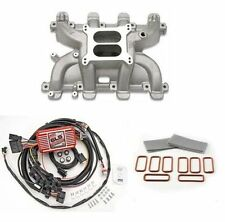 LS Cathedral Carb Intake Kit - Edelbrock Performer RPM Intake/MSD 6010 Ignition