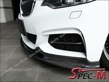 Carbon Fiber 3D Design Type Front Spoiler Bumper Lip Fits F22 235i w/ M Sports