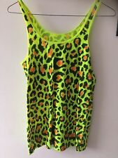 Stampa Leopardata Neon Cyber Dog Top