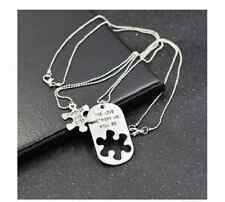 1Pair Romantic Couples Pendant Necklaces the Love Between Us Lovers Gift WWS